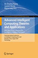 Advanced Intelligent Computing Theories and Applications Pdf/ePub eBook
