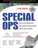 Special Ops: Host and Network Security for Microsoft Unix and Oracle