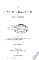 A Latin Grammar for Schools Book