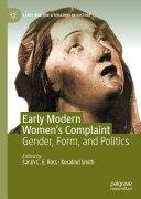 Early Modern Women s Complaint