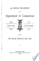 Annual Encampment of the Department of Connecticut  Grand Army of the Republic Book