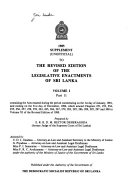 1985 Supplement  unofficial  to the Revised Edition of the Legislative Enactments of Sri Lanka