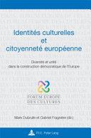 Identités culturelles et citoyenneté européenne