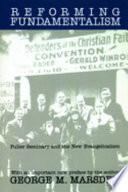 Reforming Fundamentalism Book