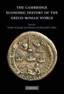 The Cambridge Economic History of the Greco-Roman World