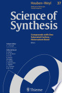 Science Of Synthesis  Houben Weyl Methods Of Molecular Transformations Vol  37