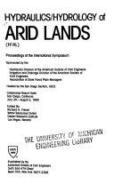 Hydraulics hydrology of Arid Lands  H2AL