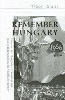 Remember Hungary  1956 Book