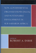 Non governmental Organizations  NGOs  and Sustainable Development in Sub Saharan Africa