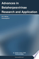 Advances in Betaherpesvirinae Research and Application  2011 Edition