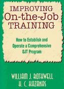 Improving On The Job Training Book