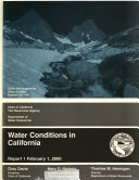 Water Conditions in California as of