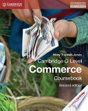Books - Cambridge O Level Commerce Coursebook | ISBN 9781107579095