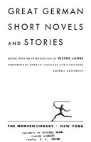 Great German Short Novels and Stories