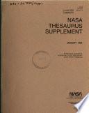 NASA Thesaurus Supplement