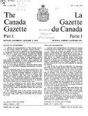 The Canada Gazette Book