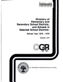Directory of elementary and secondary school districts, and schools in selected school districts