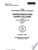 Superconducting Super Collider Site Selection