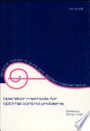 Operator Methods for Optimal Control Problems