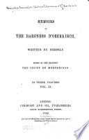 Memoirs of the Baroness D Oberkirch  Countess de Montbrison