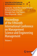 Proceedings of the Fifteenth International Conference on Management Science and Engineering Management