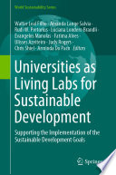 Universities as Living Labs for Sustainable Development Book