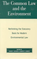 The Common Law and the Environment