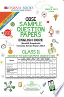 Oswaal Cbse Sample Question Paper Class 11 English Core For March 2019 Exam