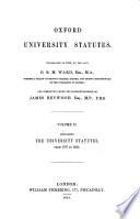 Oxford University Statutes