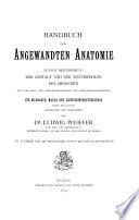 Handbuch Der Angewandten Anatomie