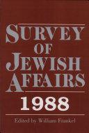 Survey of Jewish Affairs, 1988