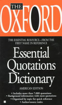 The Oxford Essential Quotations Dictionary