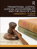Transitional Justice, Judicial Accountability and the Rule of Law Pdf/ePub eBook