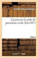 Lecons Sur Le Code de Procedure Civile