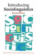 Books - Intro Sociolinguistics | ISBN 9780748638444
