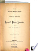 Annual Report Of The Board Of Directors Of The Brooklyn Library