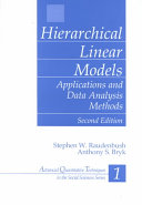 Hierarchical Linear Models