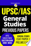 """42 Years UPSC Previous Year Papers Subjectwise General Studies GS CSAT Paper-1 Preliminary Exam"" by Mocktime Publication"