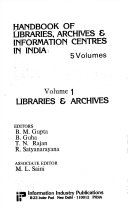 Handbook of Libraries  Archives   Information Centres in India Book