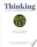 Thinking Like a Generalist