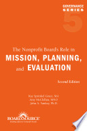 The Nonprofit Board S Role In Mission Planning And Evaluation PDF