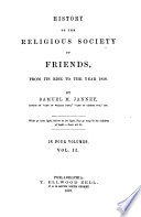 History of the religious society of Friends, from its rise to the year 1828