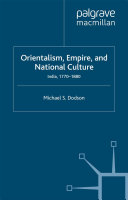 Orientalism  Empire  and National Culture