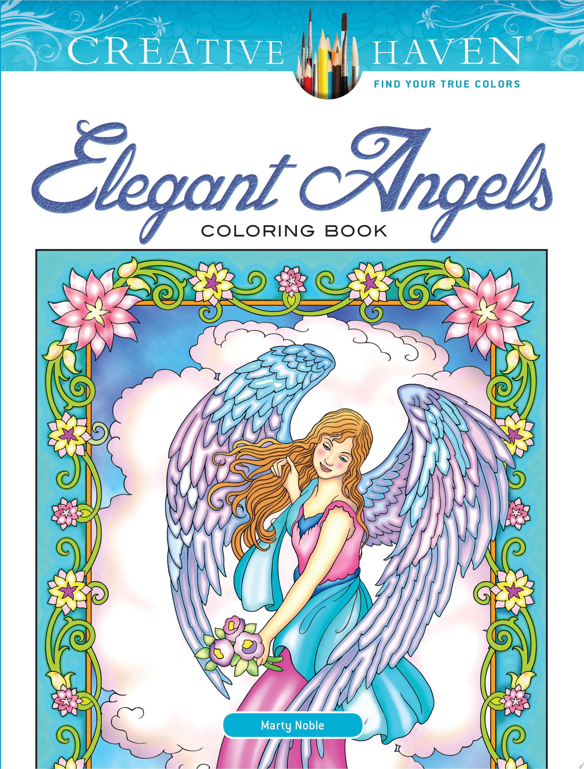 Creative Haven Elegant Angels Coloring Book