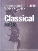 Pdf International Who's Who in Classical Music 2008
