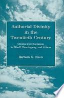 Authorial Divinity in the Twentieth Century