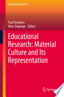 Educational Research Material Culture And Its Representation Book PDF