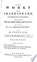 The Works Of Shakespeare In Twelve Volumes