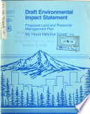 Mt Hood National Forest  N F    Proposed Land and Resource s  Management Plan  LRMP