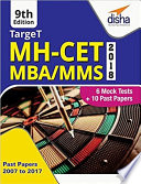 Target Mh Cet 2018 Mba Mms 2018 Past 2007 2017 6 Mock Tests 9th Edition